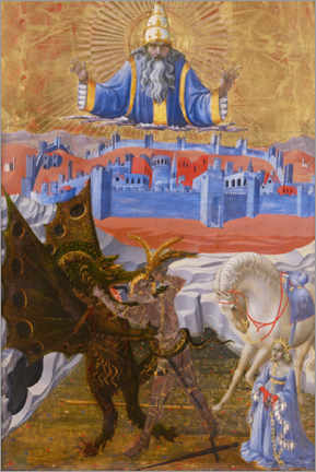 Premium poster Saint George slays the dragon