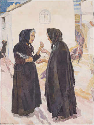 Acrylic print  Gummorna (The old ladies) - Carl Wilhelm Wilhelmson