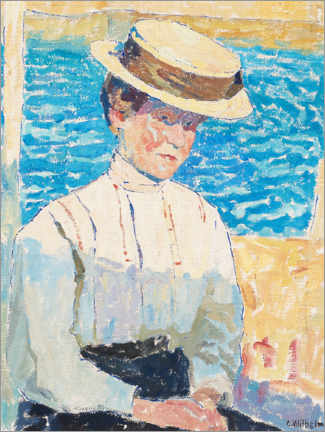 Acrylic print  Mother of the board woman in the fishing village of Ljungkile - Carl Wilhelm Wilhelmson