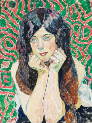 Gallery print  Girl with beautiful hair - Carl Wilhelm Wilhelmson
