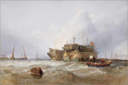 Gallery print  Prison hulks on the Medway - William Clarkson Stanfield