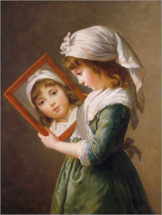 Premium poster  Look in the mirror - Elisabeth Louise Vigee-Lebrun