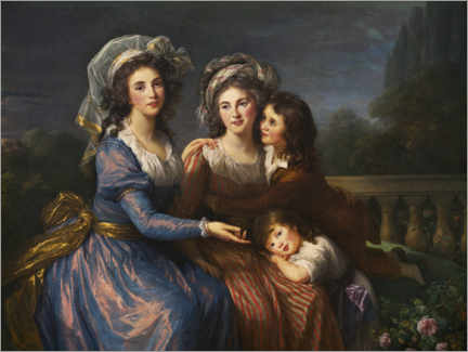 Wall sticker  Marquise de Pezay and the Marquise de Rougé with Alexis et Adrien - Elisabeth Louise Vigee-Lebrun