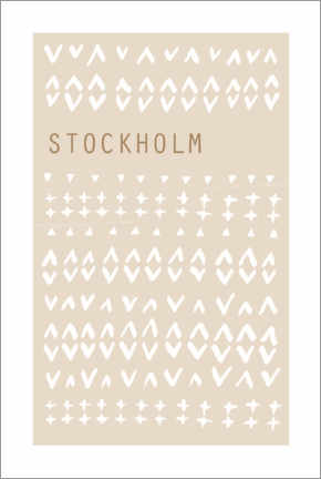 Premium poster  City lights, Stockholm - Mantika Studio