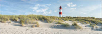 Acrylic print  Lighthouse on the dune beach on Sylt - Jan Christopher Becke
