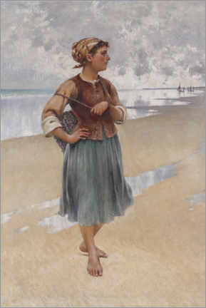 Canvas print  Oyster picker - August Hagborg
