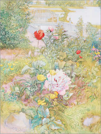 Foam board print  Summer in Sundborn (Detail) - Carl Larsson