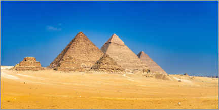 Premium poster Pyramids of Cheops, Chephren and Mykerinos, Giza