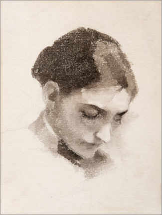 Gallery print  Portrait of a woman - Helene Schjerfbeck