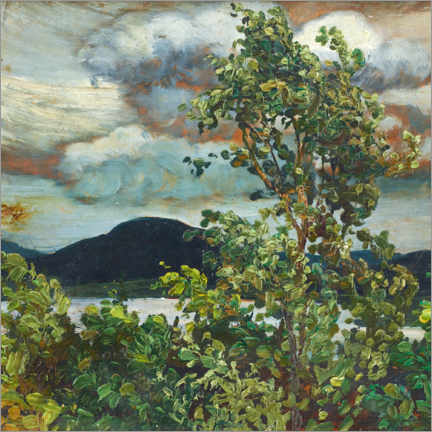 Canvas print  Windy summer day (Medelpad) - Helmer Osslund