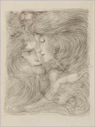 Foam board print  Two women - Jan Toorop
