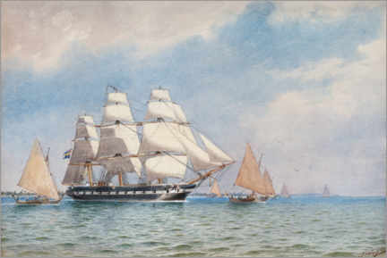 Canvas print  Vanadis sail to Jaluit Island in the South Pacific - Jacob Hägg