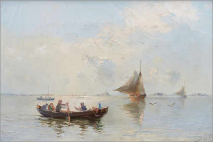 Canvas print  Fishing boats in the bay - Herman Af Sillen