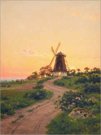 Acrylic print  Windmill at sunrise - Johan Krouthén