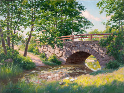 Acrylic print  The old bridge - Johan Krouthén
