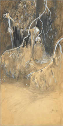 Premium poster  Study for In the forest - John Bauer