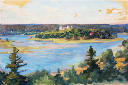 Acrylic print  Summer landscape from Tyresö - Prins Eugen