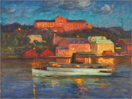 Gallery print  Factories in the evening light - Prins Eugen