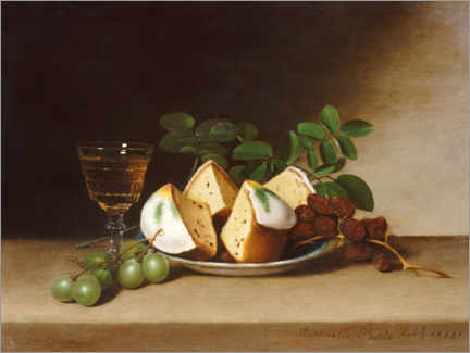 Gallery print  Still life with cake - Raphaelle Peale