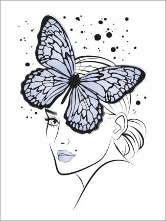 Premium poster Lady Butterfly