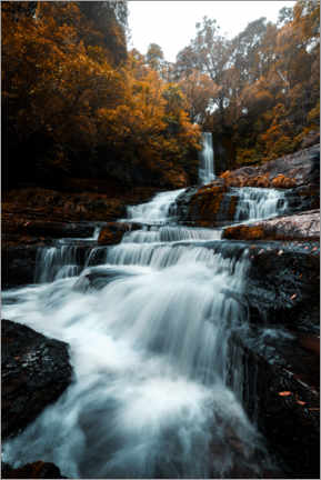 Premium poster  Waterfall in the fall - Thomas Beauquesne