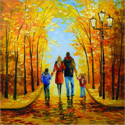 Acrylic print  Walk with the whole family - Olha Darchuk