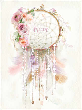 Foam board print  Rosé Dream Catcher - Lara Skinner