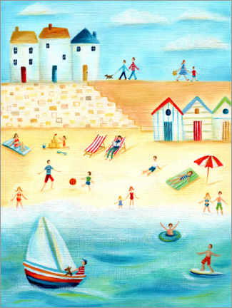 Foam board print  Holidays on the beach - Ileana Oakely