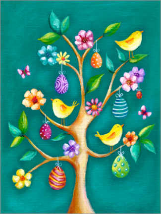 Canvas print  Easter tree - Ileana Oakely