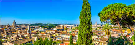 Premium poster View from the Villa Borghese park over Rome