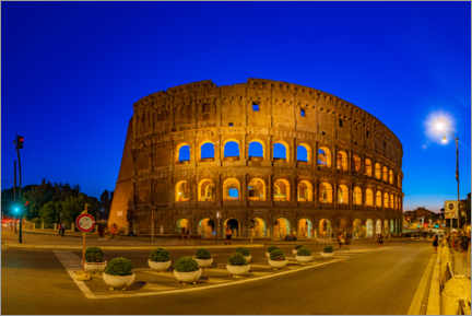 Premium poster The Colosseum in Rome at night