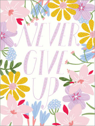 Gallery print  Never give up - Alec Macdonald