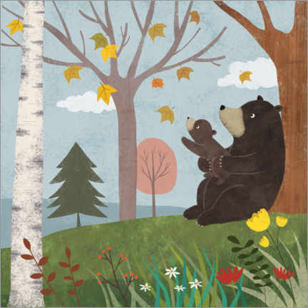 Premium poster Bear autumn