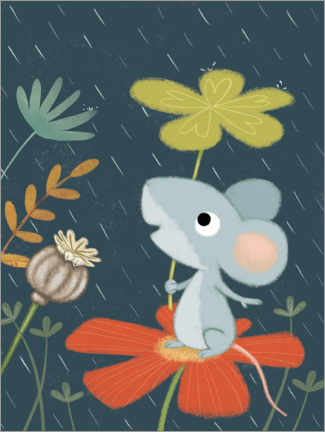 Canvas print  Mouse in April weather - Lucy Barnard
