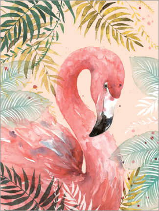 Wall sticker  Flamingo in the jungle - Di Brookes