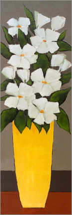Wall sticker White flowers in a yellow vase