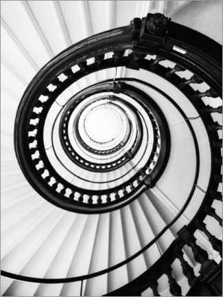 Acrylic print  Spiral staircase II - Magda Izzard