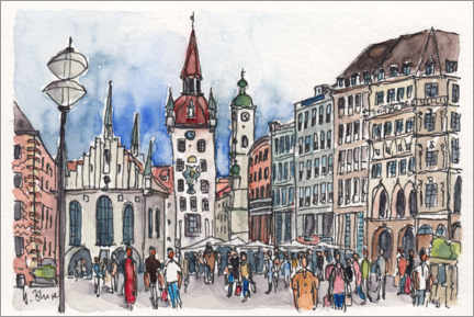 Wall sticker  Marienplatz in Munich - Hartmut Buse