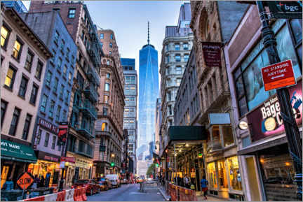 Premium poster View of the One World Trade Center in New York