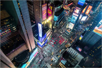 Premium poster Aerial view of Times Square in New York