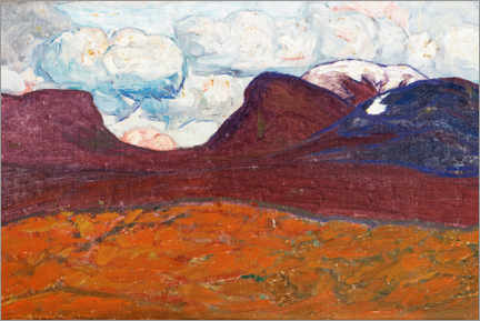 Gallery print  Clouds over Lapporten - Helmer Osslund