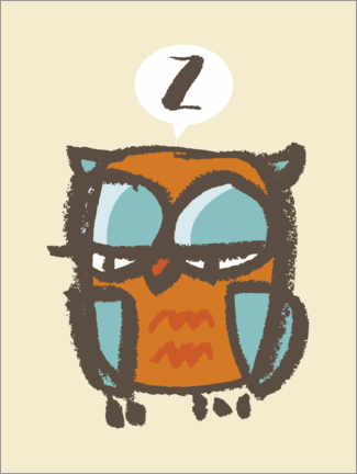 Wall sticker  Tired Owl - Thomas Marutschke