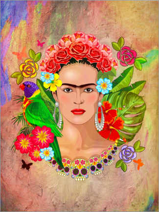 Wood print  Frida - Mark Ashkenazi