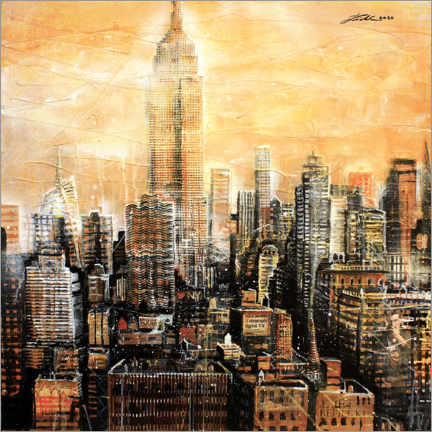 Premium poster  New York, Empire State Building - Johann Pickl