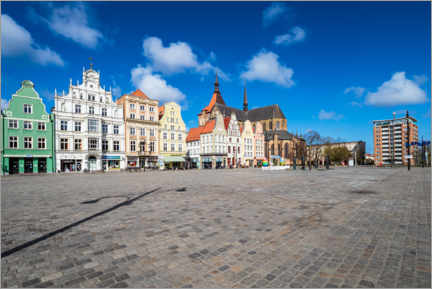Canvas print  New market in the Hanseatic city of Rostock - Rico Ködder