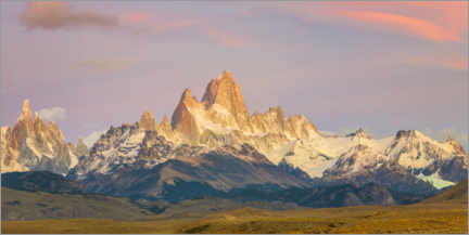 Premium poster  Fitz Roy at sunrise in Patagonia - Dieter Meyrl