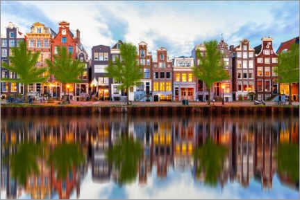 Gallery print  Beautiful canal houses in Amsterdam, Holland - George Pachantouris