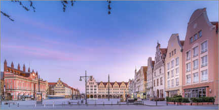 Acrylic print  New market with town hall, Rostock - Dirk Petersen
