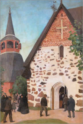 Canvas print  Going to church - Pekka Halonen