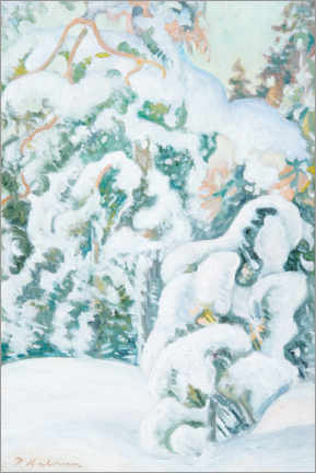 Canvas print  Winter landscape - Pekka Halonen
